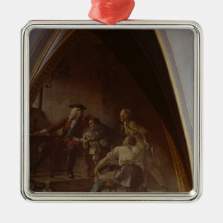 Boettger shows August the Strong the Secret Silver-Colored Square Decoration