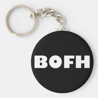 BOFH hybrid operator From bright Basic Round Button Key Ring