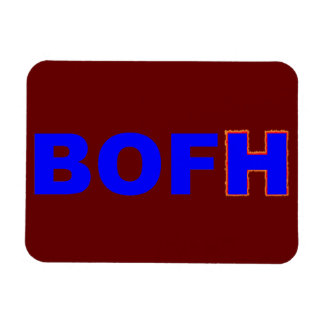 BOFH hybrid operator From bright Rectangular Photo Magnet