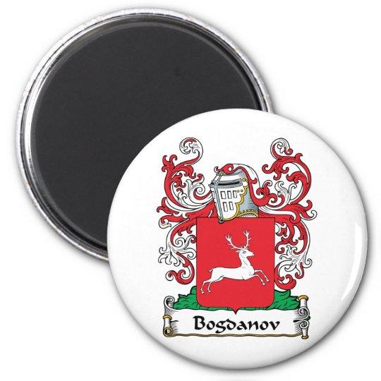Bogdanov Family Crest 6 Cm Round Magnet