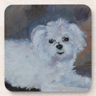 Bogie Dog Pet Portrait Coaster