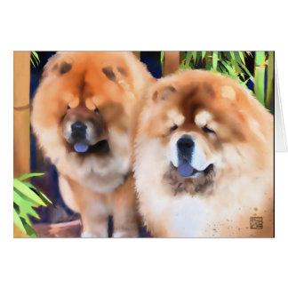 BOGIE & SPOOKY heARTdog chow Card