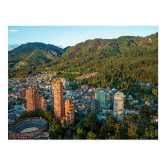 Bogota and the mountains of the $andes postcard