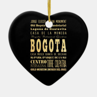 Bogota City of Colombia Typography Art Ornament