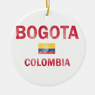 Bogota Colombia Designs Round Ceramic Decoration