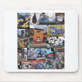 Bogota street art mural montage mouse pad