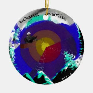 Bogus Basin Idaho Christmas Ornament