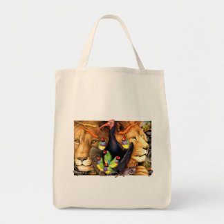 BohanArt Birder's Tote (Critters 3: Organic) Grocery Tote Bag