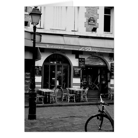 Boheme Cafe Card