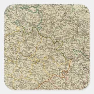 Bohemia, Silesia, Moravia, Lusatia Square Sticker