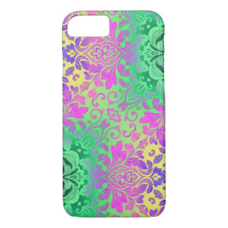 bohemian abstract mint Fuschia purple kaleidoscope iPhone 8/7 Case