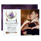 Bohemian Antler Save the Date - Photo Card