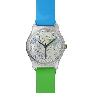 Bohemian Blue Flower Watch