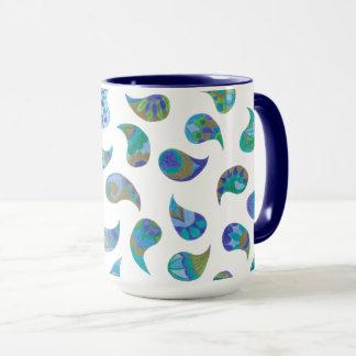 Bohemian Blue Paisley Mug