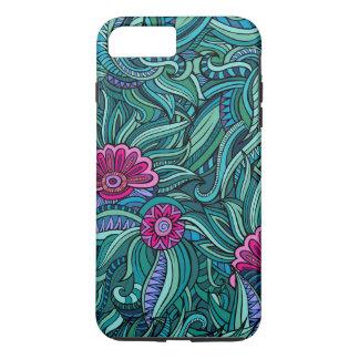 Bohemian Boho MOD Hippy Chic Flower Pattern iPhone 8 Plus/7 Plus Case