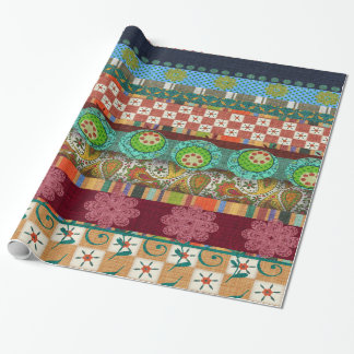 Bohemian Boho MOD Hippy Chic Pattern Wrapping Paper