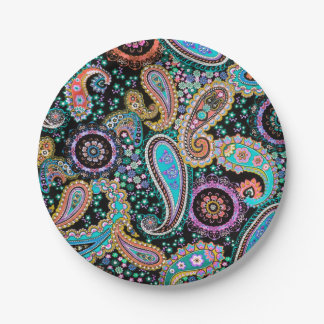 Bohemian Boho MOD Pattern Paper Plate