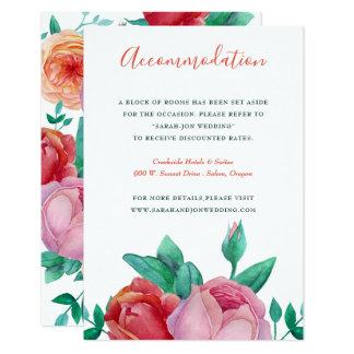 Bohemian Bold Floral Wedding Information card