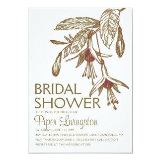 Bohemian Botanical Bridal Shower Invitations