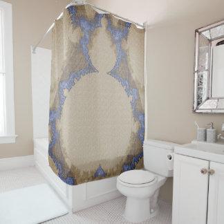 Bohemian_Buddha(c) Sepia-Blue_ Bathroom_ Shower Curtain