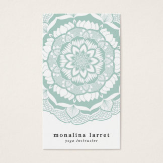 Bohemian Chic Henna Mehendi Mandala Pattern Business Card