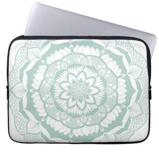 Bohemian Chic Henna Mehendi Mandala Pattern Laptop Sleeve