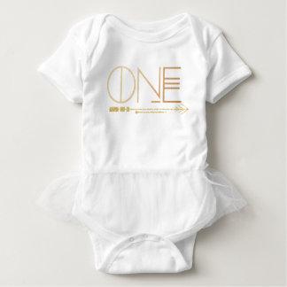 Bohemian Chic One | Tribal Gold Foil Baby Bodysuit