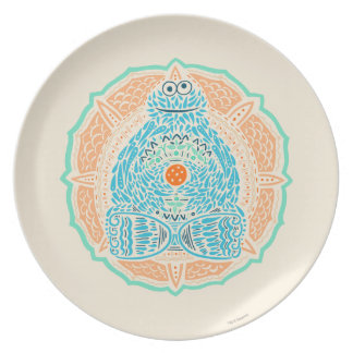 Bohemian Cookie Monster Plate