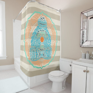 Bohemian Cookie Monster Shower Curtain