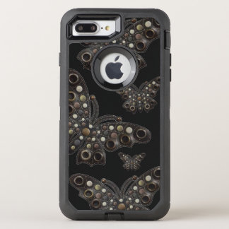 Bohemian Dark Leather Butterfly 6/6s OtterBox Defender iPhone 7 Plus Case