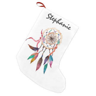 Bohemian Dreamcatcher in Vibrant Watercolor Paint