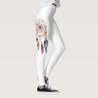 Bohemian Dreamcatcher in Vibrant Watercolor Paint Leggings
