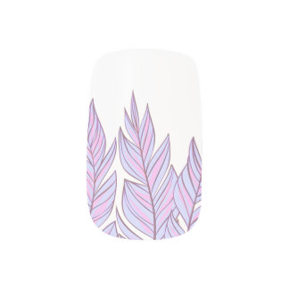 Bohemian Dreamcatcher Pink Purple Feathers Minx Nail Art