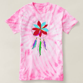Bohemian Dreamcatcher Women's Tie-Dye T-Shirt
