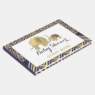 Bohemian Elephant and Chevron Baby Shower Guest Book