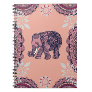 Bohemian Elephant Spiral Notebook
