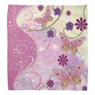 Bohemian Fairy Tale Folk Art Jeweled Kerchief