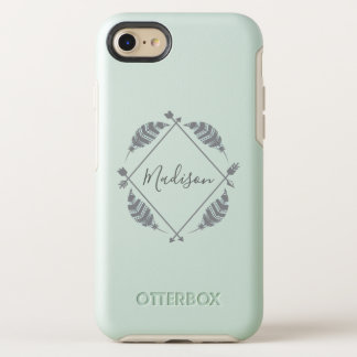 Bohemian Feather Personalized Name OtterBox Symmetry iPhone 8/7 Case