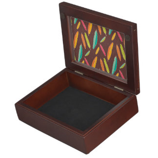 Bohemian feathers Keepsake Box
