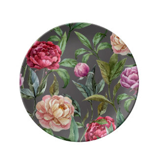 Bohemian Floral Decorative Porcelain Plate
