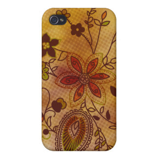 Bohemian Floral iPhone 4 Case gold
