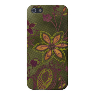 Bohemian Floral iPhone 4 Case olive