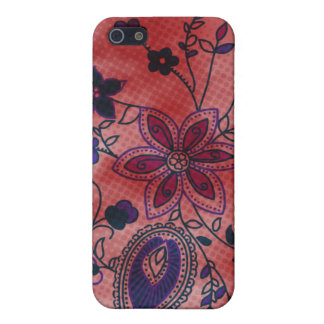 Bohemian Floral iPhone 4 Case (red)