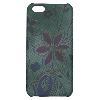 Bohemian Floral iPhone 4 Case (teal with blue)