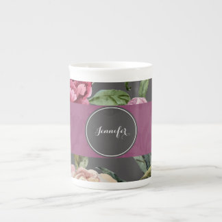 Bohemian Floral Personalised Bone China Mug