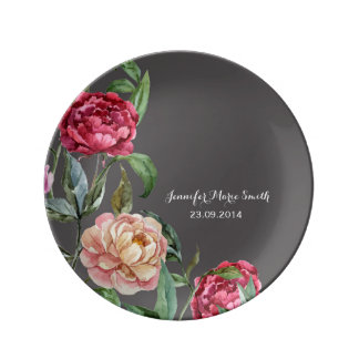 Bohemian Floral Personalised Decorative Plate