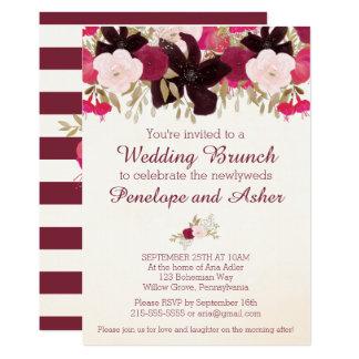 Bohemian Floral Post Wedding Brunch Invitation