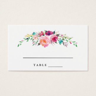 Bohemian Floral Wedding Escort Cards