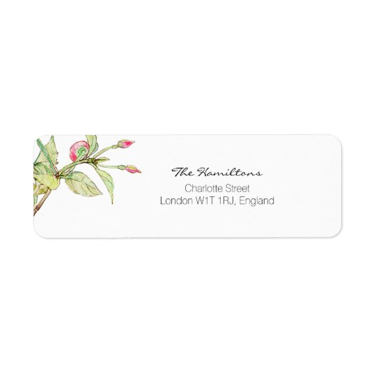 Bohemian Floral Wedding Return Address Label