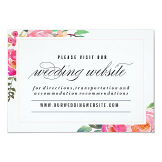 Bohemian Floral Wedding website card